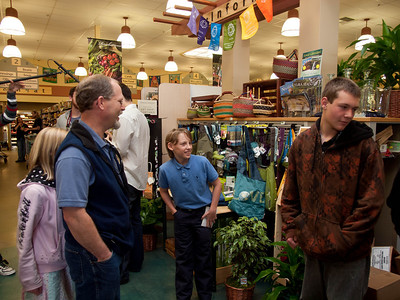 11 year old Birke Baehr speaks about organic and sustainable foods at Briar Patch, Jan. 23, 2011