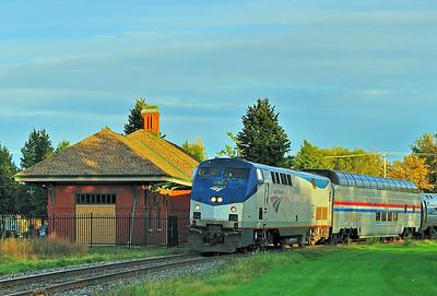Amtrak Adirondack, St-Jean Qc  October 1 2015.