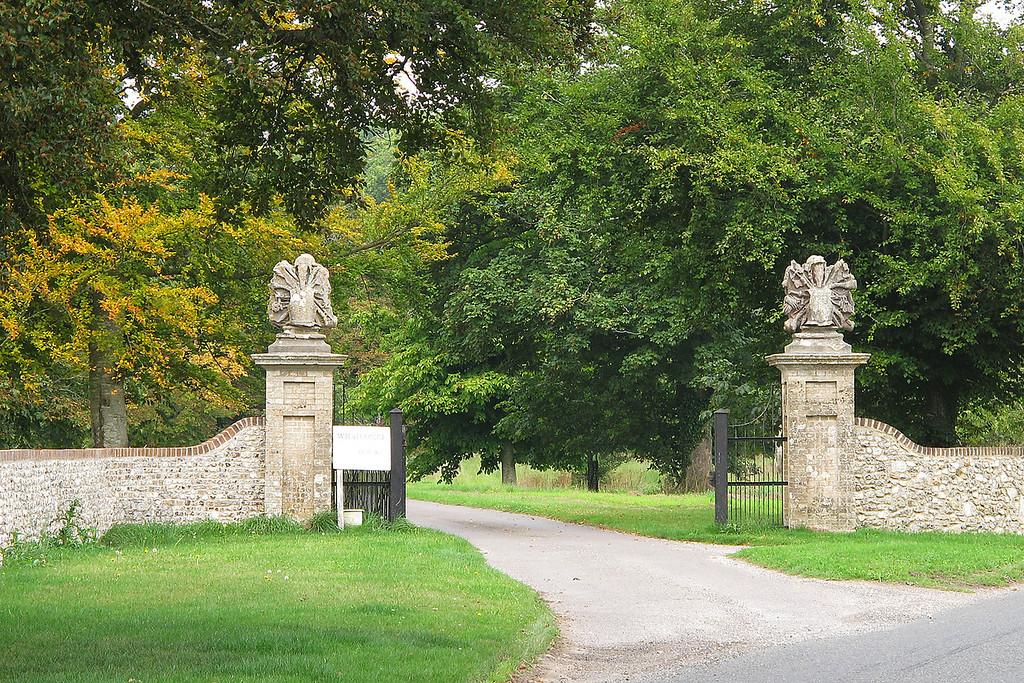 Whatcombe House entrance gates.