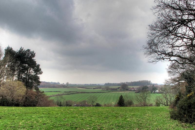 Overlooking fields at Morden.