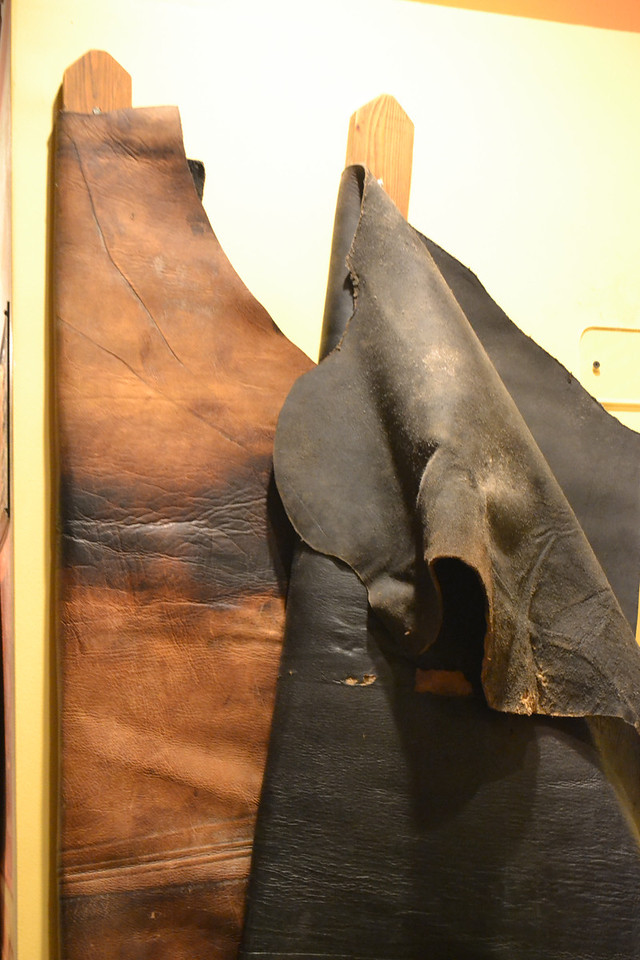 A lot of leather was packed into the holds of the Arabia, ready to be put into use in the American frontier of the 1850s...