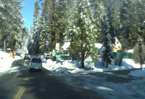 Moving through the town of Shaver Lake video.