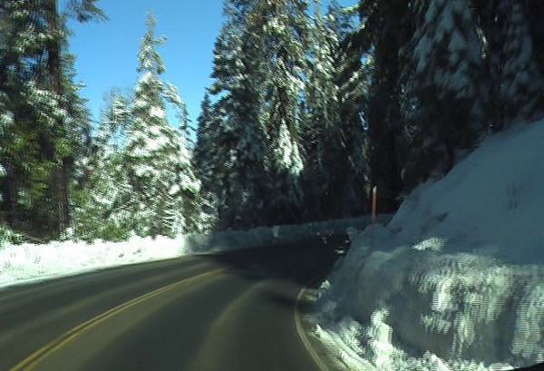 Moving towards Shaver Lake video.
