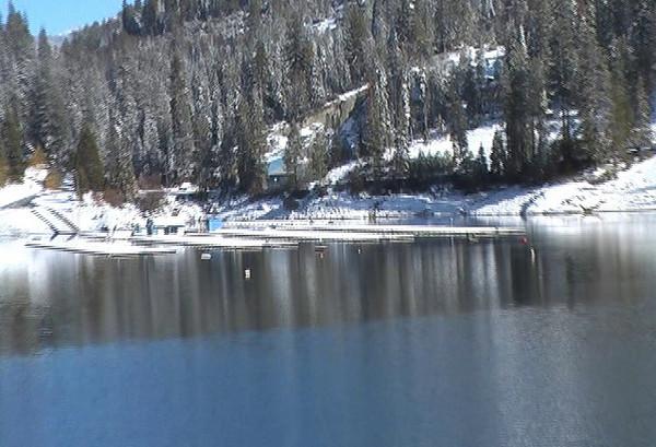 The main boat docks at Shaver Lake video.