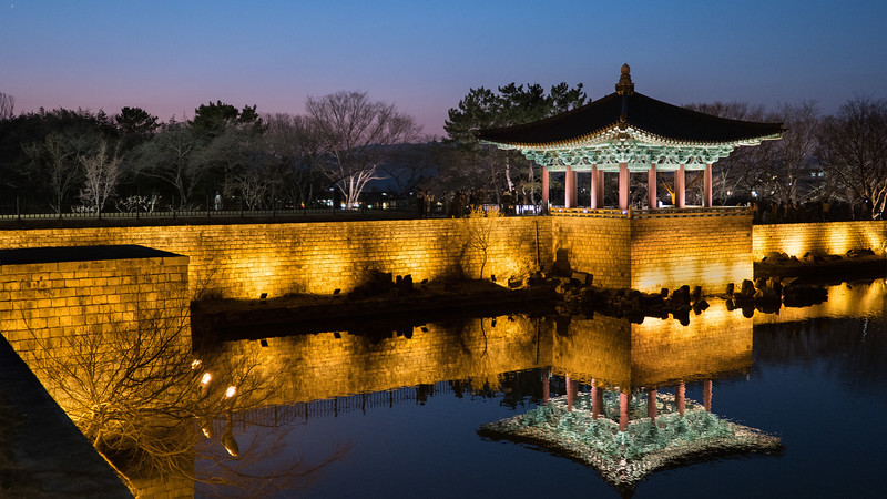 Gyeongju, Anapji Pleasure Garden  (Established 674)