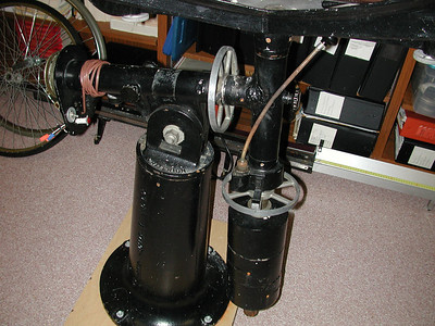 Setting circles, clock drive and slow motion control are all original to this equatorial mount.