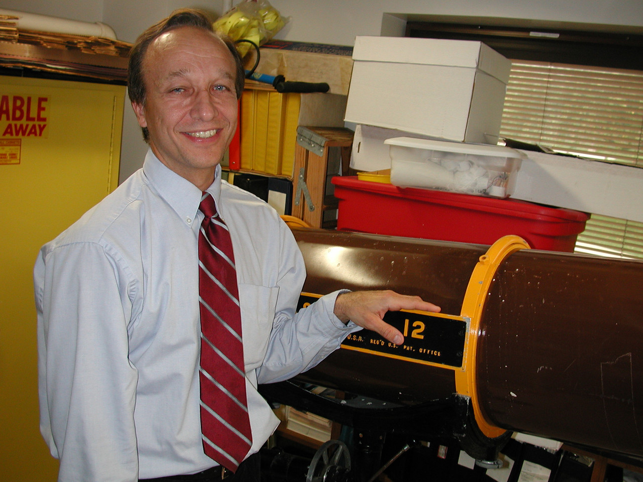 Robert Yakulis MD and the 12 inch Dynascope