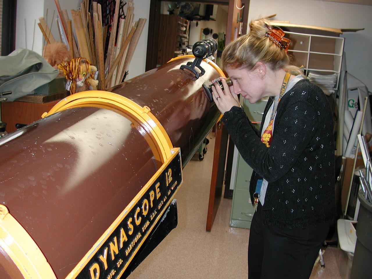 Cheryl Harper  gazes into this classic instrument!