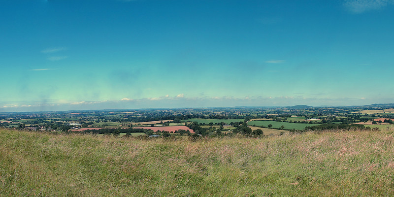 The view to the Northwest from Hambledon Hill.