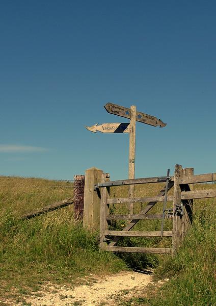 The entrance to Hambledon Hill reserve.