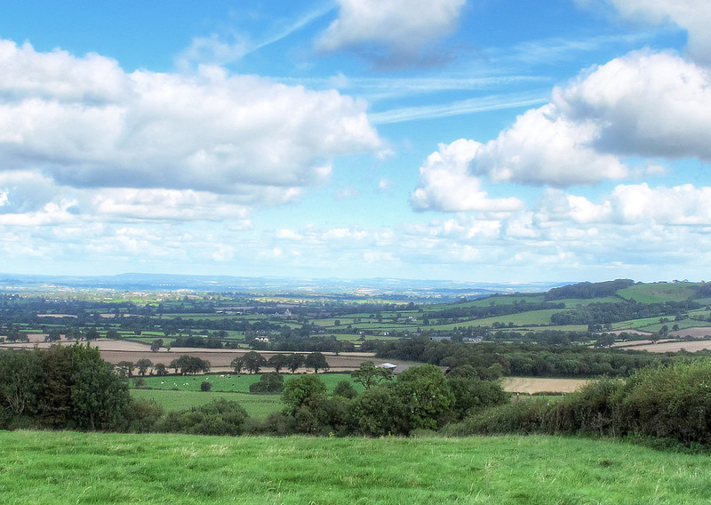 The view towards the North from Nordon Hill.