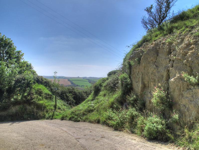 The path round Corton Hill.