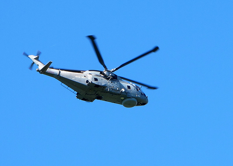 On the last day of Paralympic Sailing at nearby Weymouth, the Navy keep an eye out for any trouble.