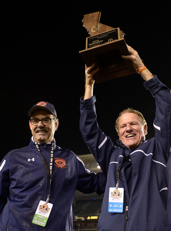 . Chaminade defeated Enterprise 41-9 to win the CIF Division II State Championship. Carson, CA 12-21-2013. photo by (John McCoy/Los Angeles Daily News)
