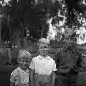 Paul, Bernard en Jan.  Ruhengeri.