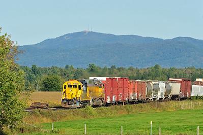 Central Maine & Quebec Train #1, Brookport Qc September 24 2015.