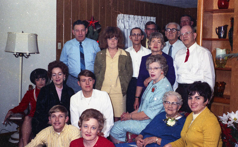 Shaffer Family Gathering and Homer & Wilma Cline's Home, probably for Grandma Shaffer's Birthday, which was in September.