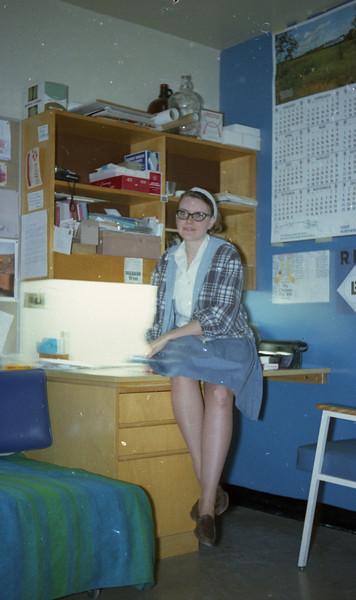 Leslie Sams at Mills Hall Open Dorm Night.