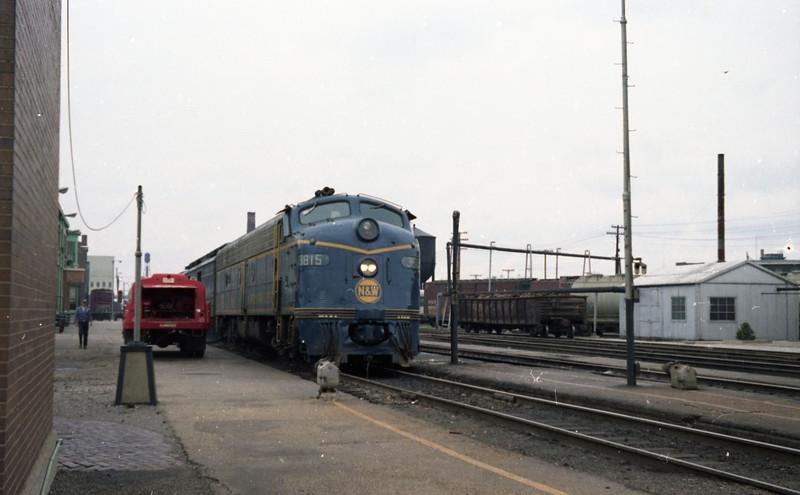 N&W #3815 arrives at Decatur, IL.
