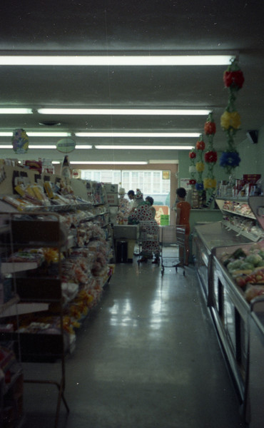 This is the inside of Hagnauer's Market in St. Jacob, IL, where I worked one Summer.