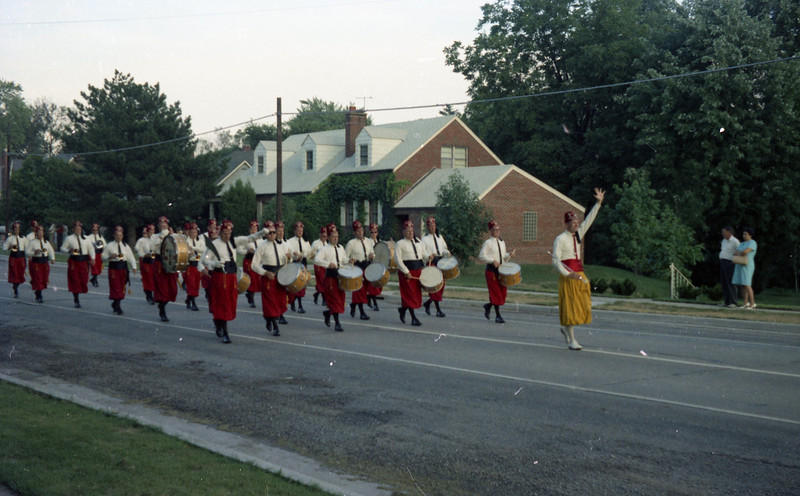 Shriners Band in the 1968 Troy Homecoming Parade.