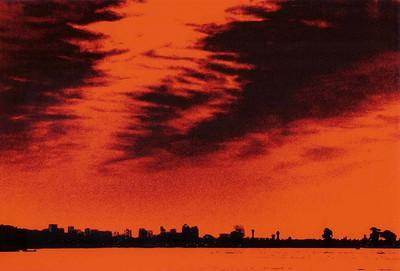 San Diego. Заход солнца. 2004 Sun set in San Diego.