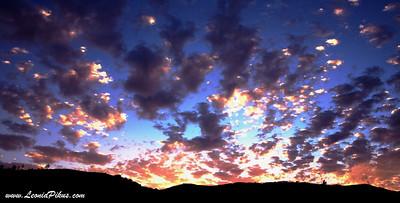 Enchanting sun rays. 2006 Солнечный фейервейк на 15 фривее.
