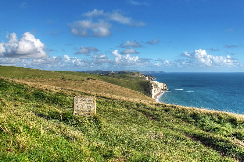 From White Nothe looking East towards Durdle Door.   St Aldhelm's Head is the distant headland.
