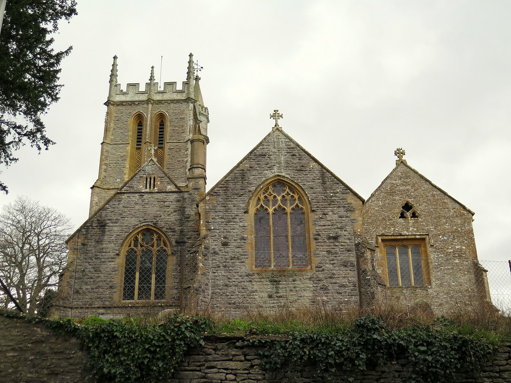 Back to Stalbridge and the church with attractive lattice work on the bell tower.
