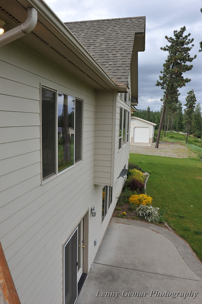 Rear of house, looking toward detached barn/garage/workshop.