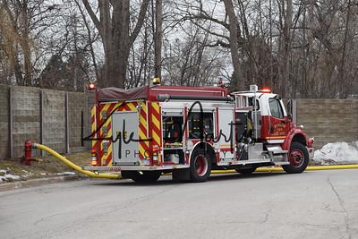 17 010417 BTFD Walmart Dumpster Fire