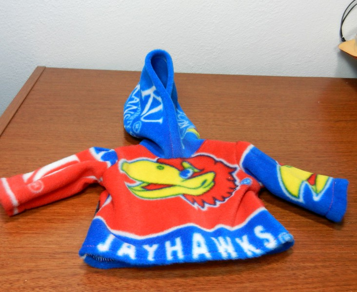 Sample of the Red Jayhawk Hoodie