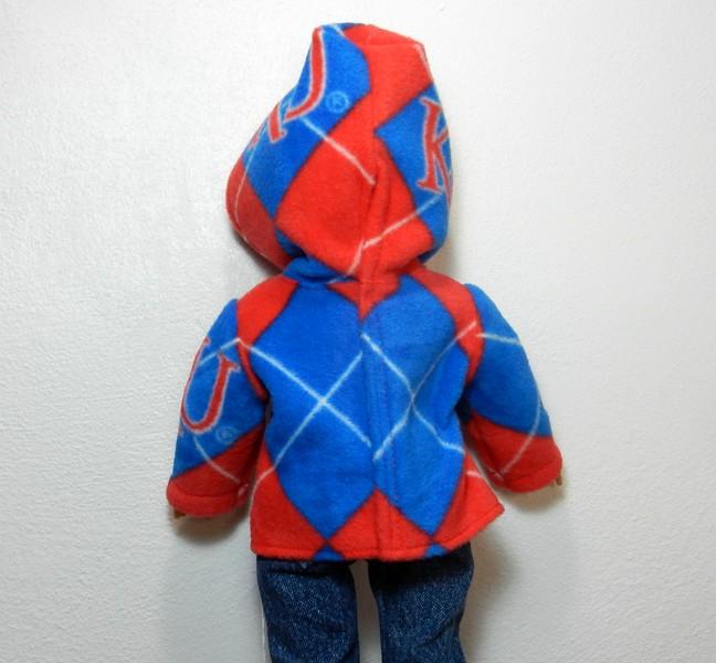 KU Argyle hoodie back