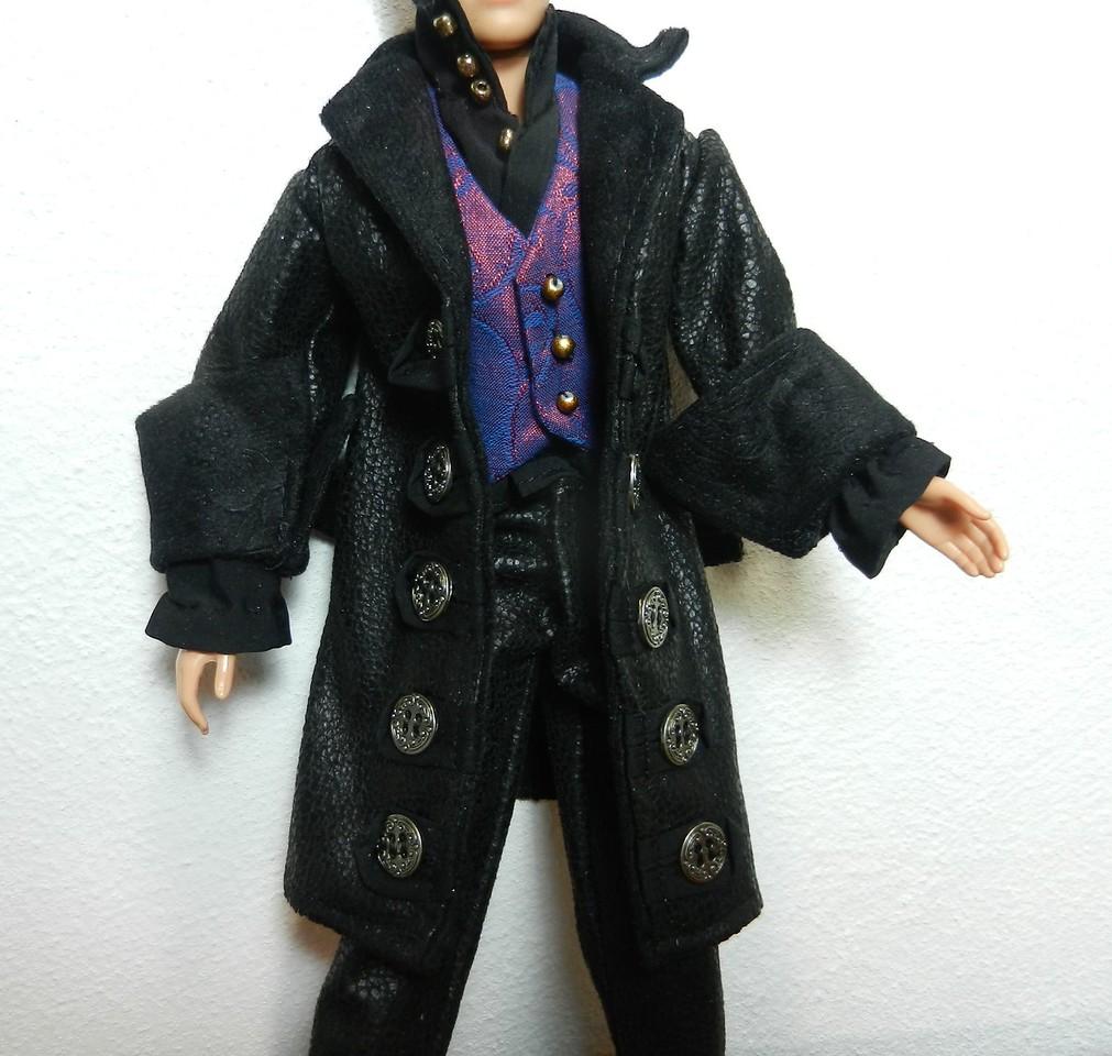 Ken Hook Pants Shirt Vest Coat front detail