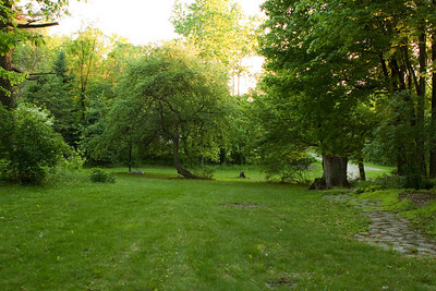 View from the front door down the lawn.
