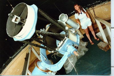 Adele and the Jacobson - Brandt  telescope.