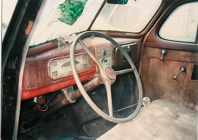 Interior before restoration, dash