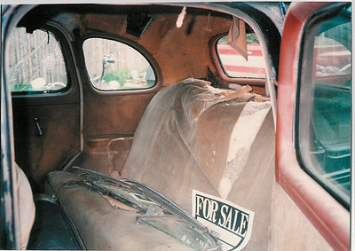 Interior before restoration, rear seat