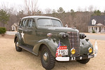 """Restored car, complete with US & rank flags, as well as 4-star plate.  """"HQ-1"""" and """"A3"""" Indicate that this is vehicle number one (the commander's vehicle) of the 3rd Army- George Patton's WWII outfit."""