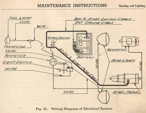 Case SC Original Wiring Diagram