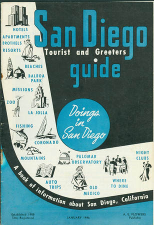 1946 Visitors Guide to San Diego