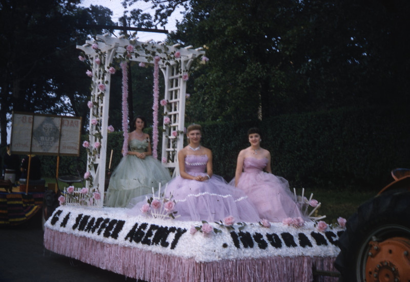 G. A. Shaffer Agency/United Savings & Loan Association Float in 1956 Troy Homecoming.