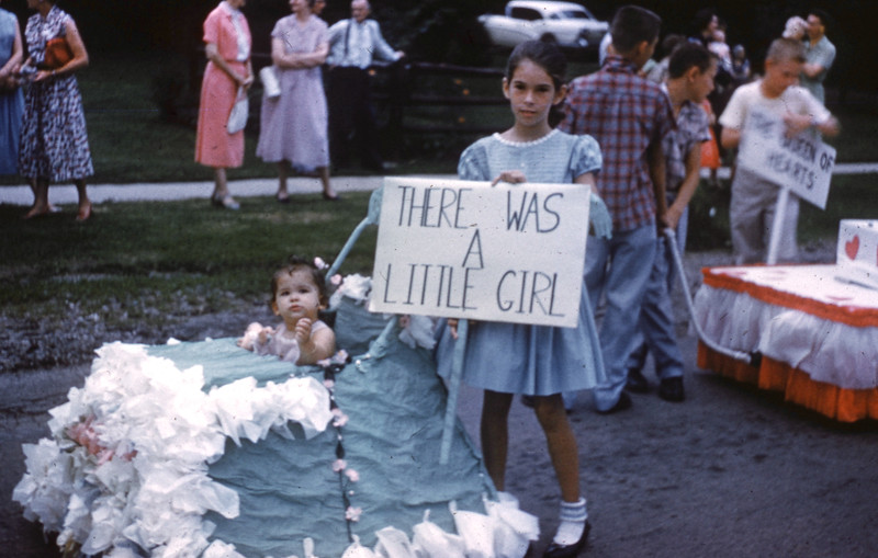 """Childrens Parade Float """"There Was A Little Girl""""."""