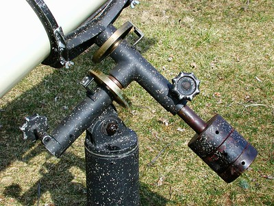 The telescope has now been cleaned-up as quite a bit of dust has come off and is quite presentable!