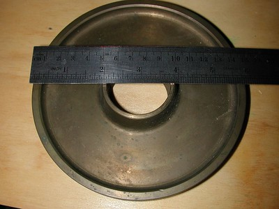 Original Cave brass setting circle is 6 inches accross.