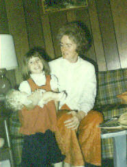 Christy & Norma Jean Nebeker; Christmas 1973