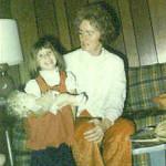 Christy & Norma Jean Nebeker; Christmas 1973