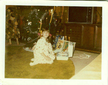 Christy Nebeker; Christmas morning 1974.  The beginning of my love affair with music :)
