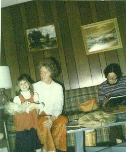 Christy, Norma Jean and Vicky Nebeker: Christmas 1973