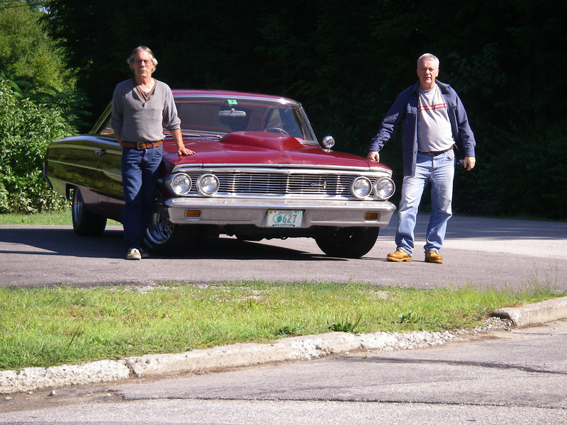 Doug and me with Doug's 64 Galaxie, NH, August 2011.